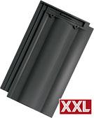 Tondach Twist XXL fekete engóbozott tetőcserép