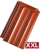 Tondach Twist XXL piros engóbozott tetőcserép